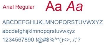 Delta - Font Arial