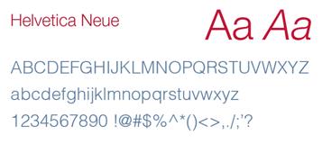 Delta - Font Helvetica Neue