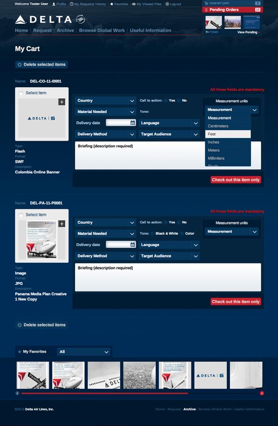 Delta - Page Cart