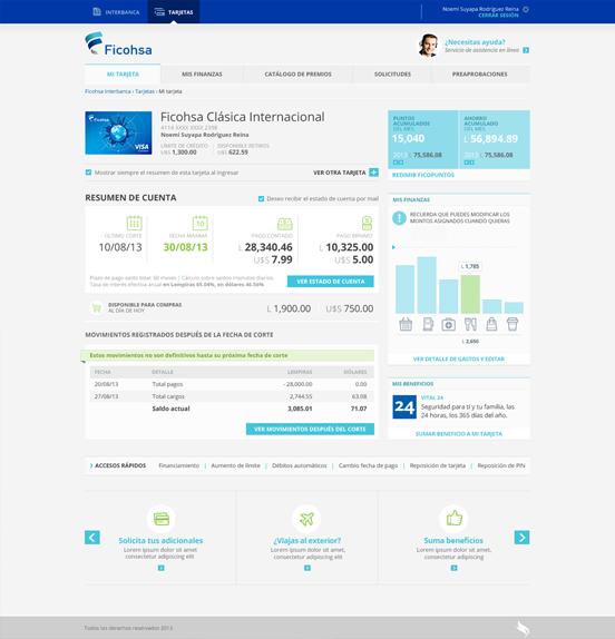 Ficohsa - Accounts Summary Screenshot