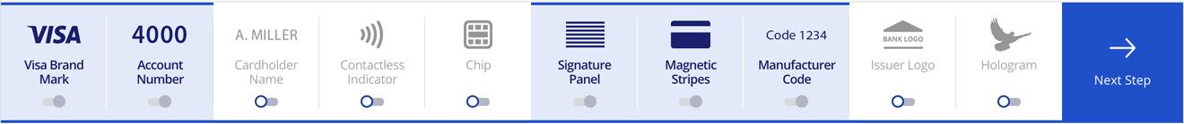 Visa Card Designer - Toolbar