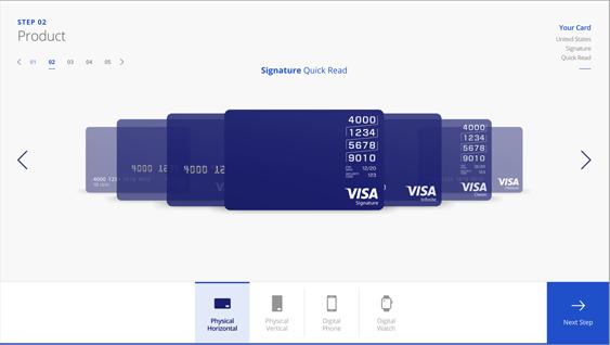 Visa Card Designer - Screen