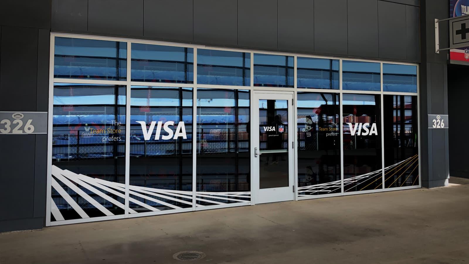 Visa Metlife - Top Wall Render