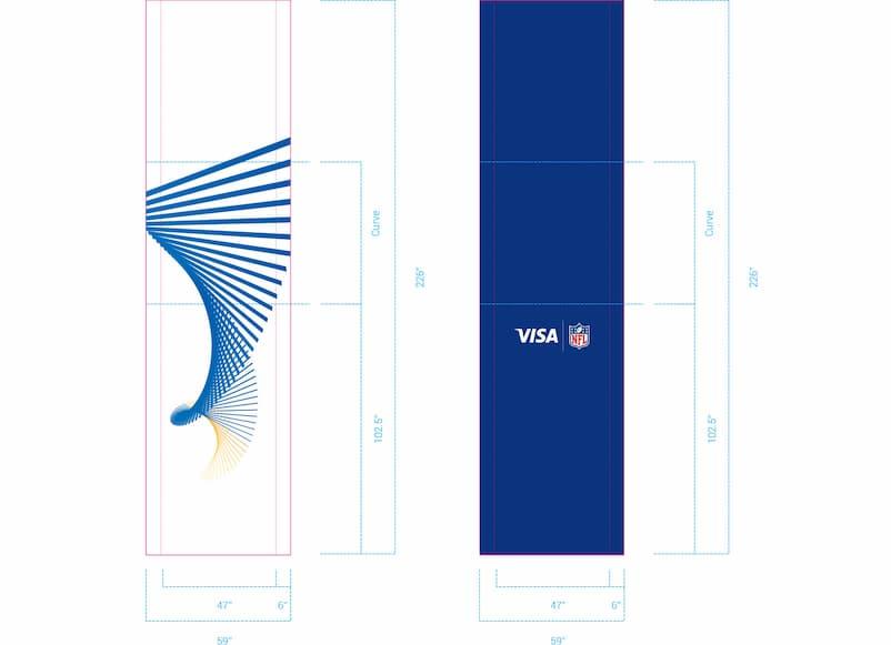 Visa Metlife - Wall Render