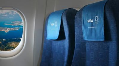 Visa Tokyo 2020 - Plane seats