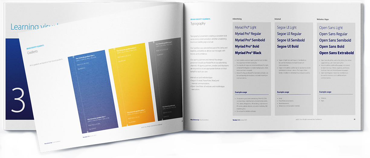 Visa University Brand - Book