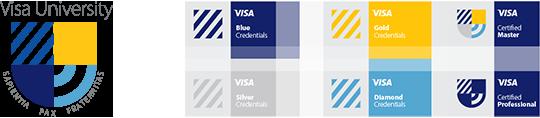 Visa University Brand - Credentials