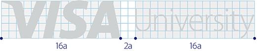 Visa University Brand Update - Logo Gray