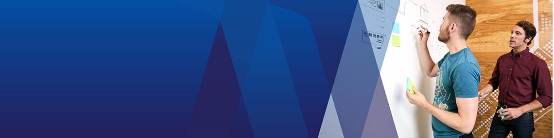 Visa University Brand - Pattern Blue