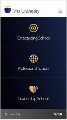 Visa University Online Campus - Mobile screenshot