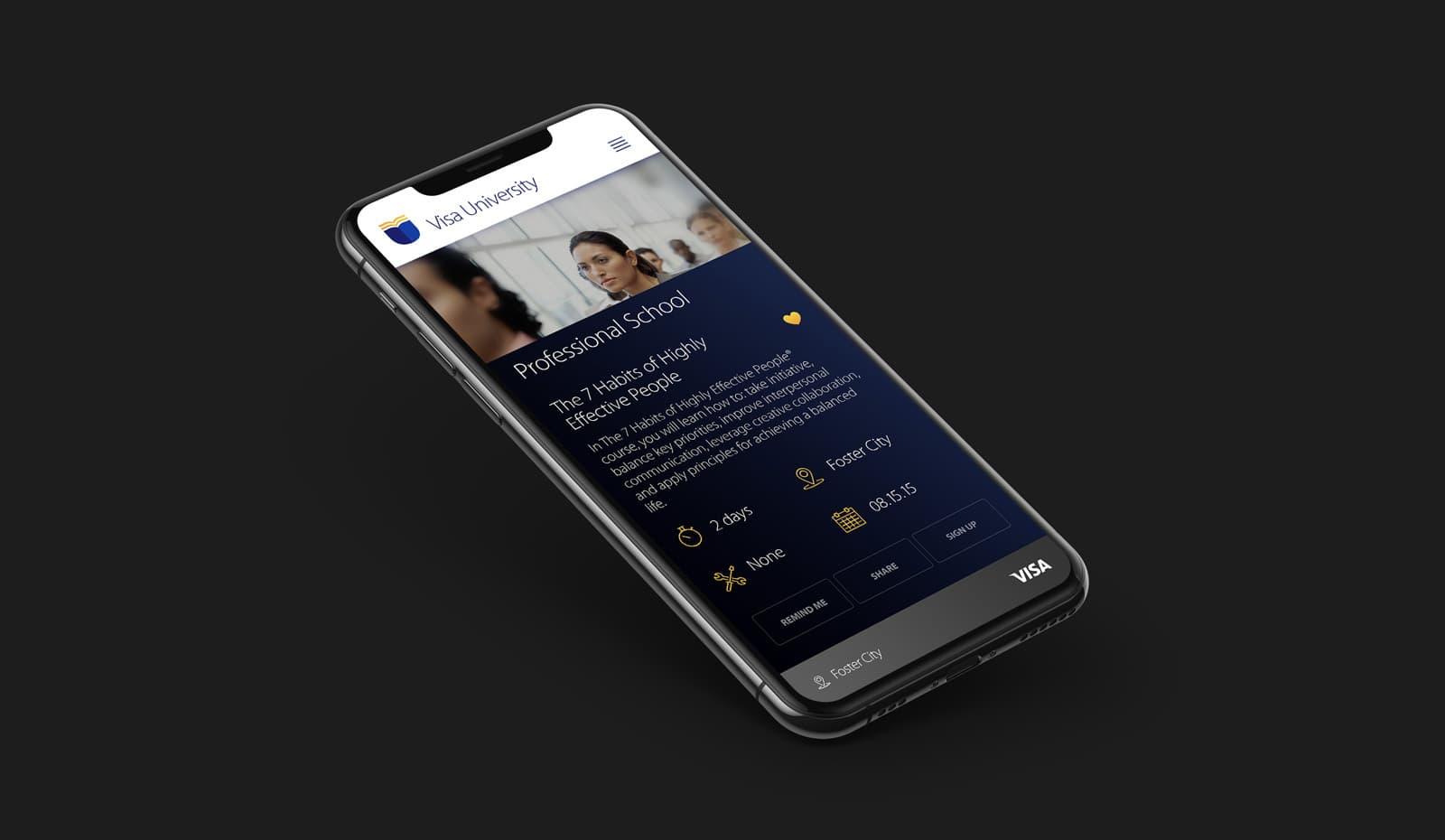 Visa University Online Campus - Phone