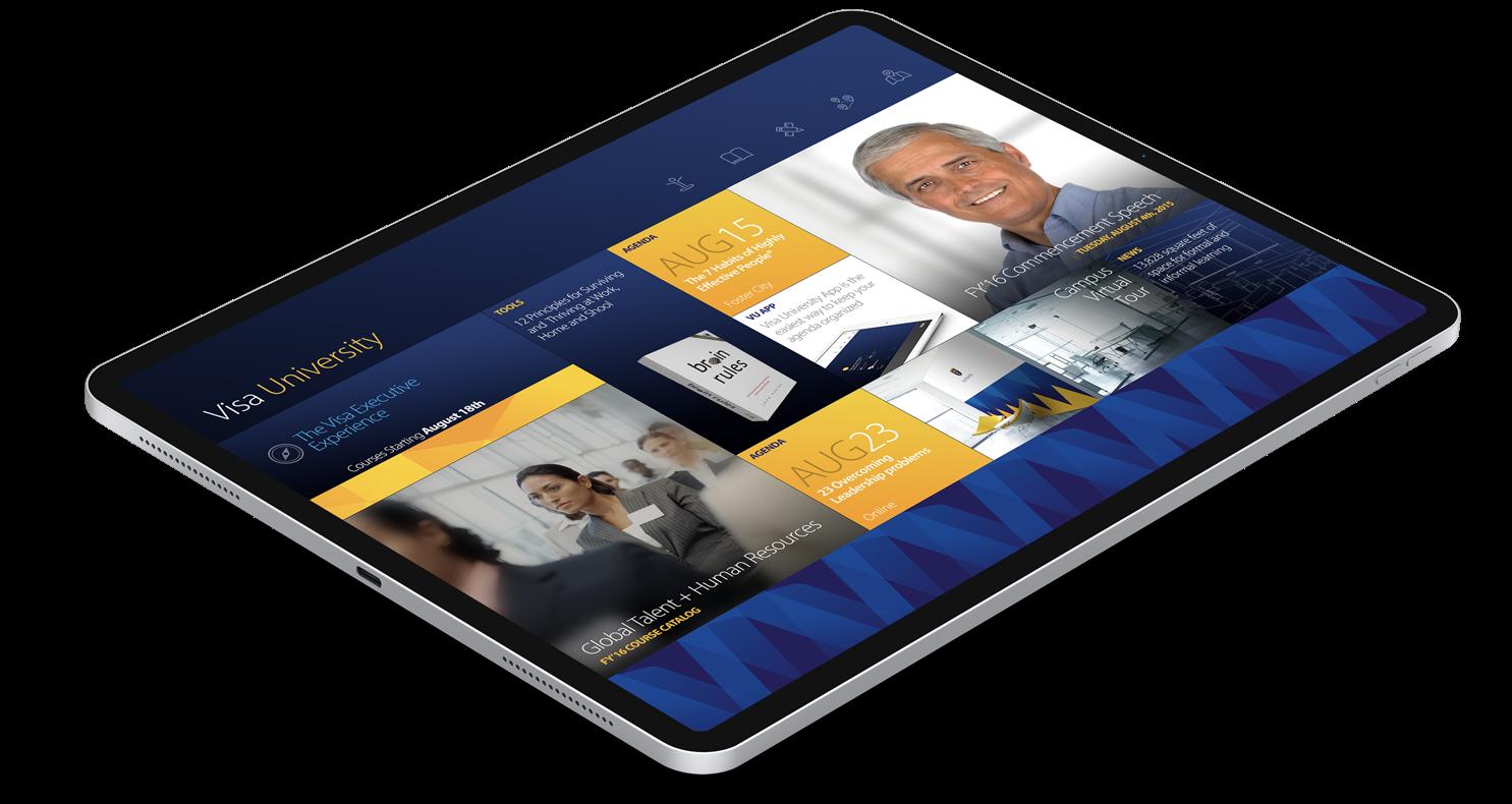 Visa University Online Campus - Tablet