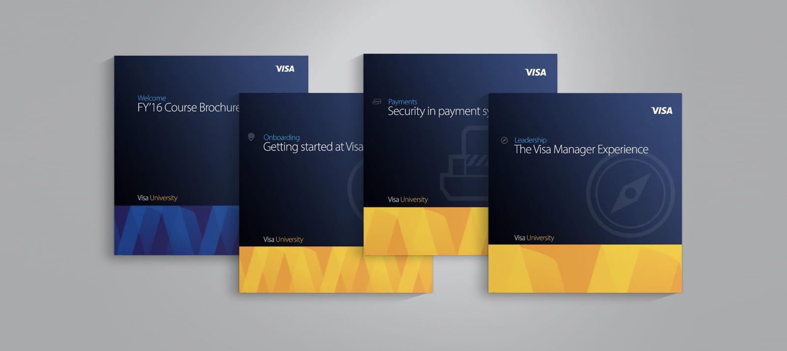 Visa University Internal Brand - Brochures