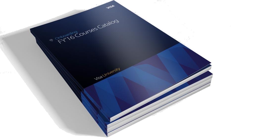 Visa University Internal Brand - Onboarding FY'16 Courses Catalog