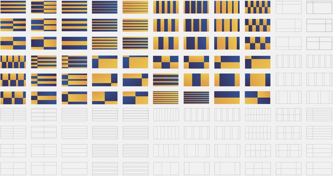 Visa University Internal Brand - Exploring the visual architecture