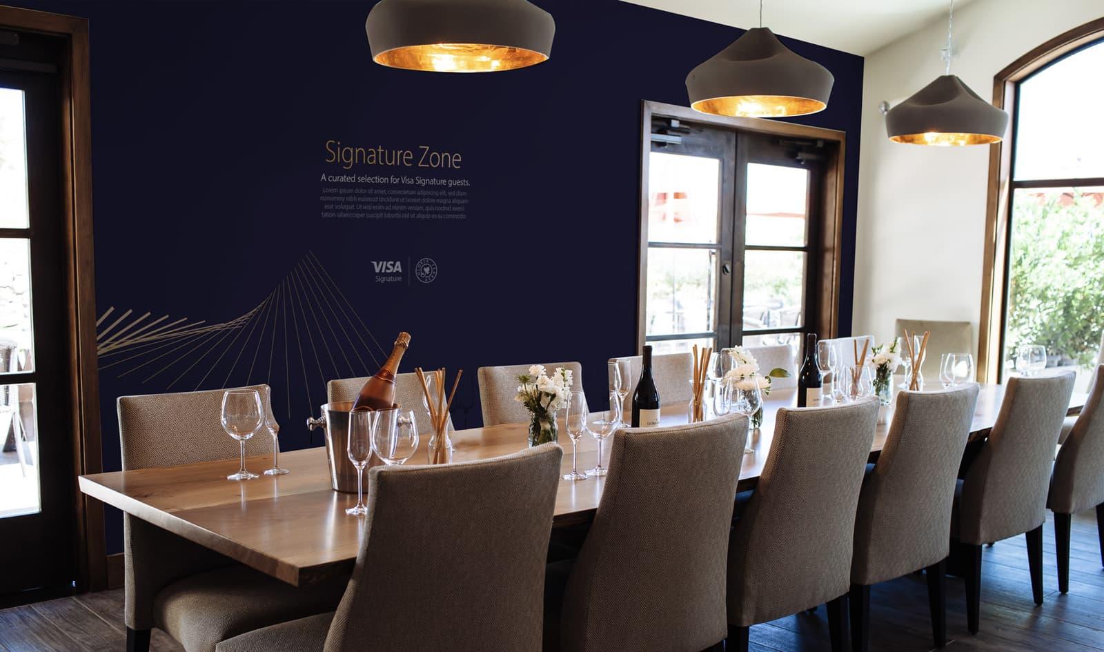 Visa Napa Valley Wineries - Dinning room