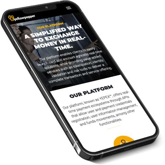 YellowPepper - Mobile Site
